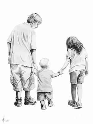 Special Children Art Print by Murphy Elliott
