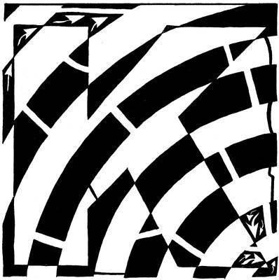 Special Maze - K Art Print by Yonatan Frimer Maze Artist