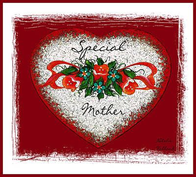 Mixed Media - Special Mother Heart by Natalie Holland
