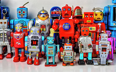 Photograph - Special Tin Toy Robots by Garry Gay