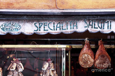 Food Stores Photograph - Specialita Salumi by John Rizzuto