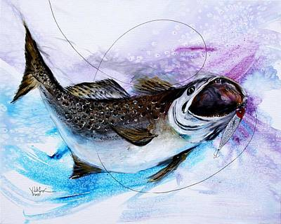 Speckled Trout Painting - Speckled Trout by J Vincent Scarpace