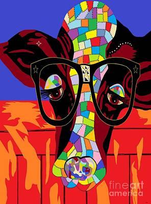 Modern Kitchen - Spectacled Cow by Eloise Schneider Mote