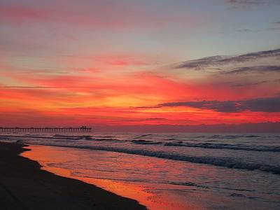 Photograph - Spectacular Beach Sunrise by Betty Buller Whitehead