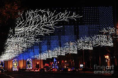Photograph - Spectacular Christmas Lighting In Madrid, Spain by Akshay Thaker 'PhotOvation'