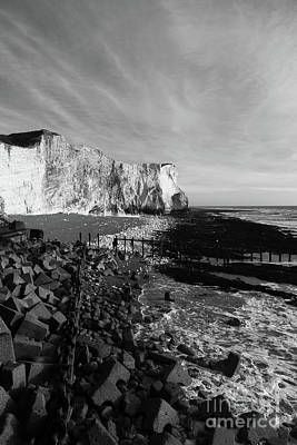 Seaford Photograph - Spectacular Cliffs At Seaford Head Sussex England by James Brunker
