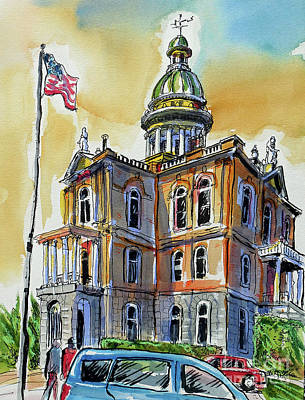 Painting - Spectacular Courthouse by Terry Banderas