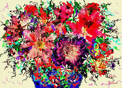 Flower Still Life Mixed Media - Spectacular Flowers by Natalie Holland