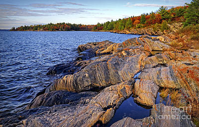 Photograph - Spectacular Gneiss Rock Formation  by Charline Xia