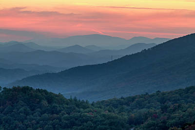 Photograph - Spectacular Sunset In The Smokies by Teri Virbickis