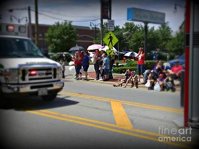 Frank J Casella Royalty-Free and Rights-Managed Images - Spectators at a Parade  by Frank J Casella
