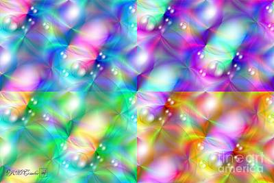 Digital Art - Spectrum Lights Balls And Bubbles Series I Pop Art by J McCombie
