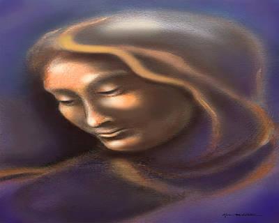 Madonna Digital Art - Spectrum Of Emotion Sadness Grief by Kevin Middleton