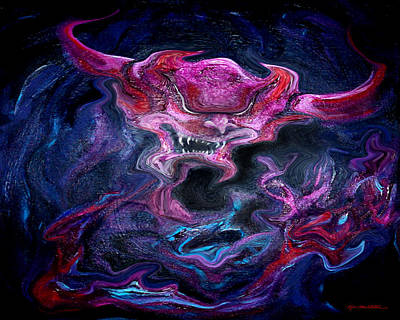 Demon Digital Art - Spectrum Of Emotion Rage Terror by Kevin Middleton
