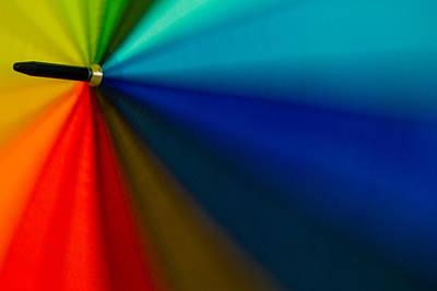 Photograph - Spectrum On Umbrella by Ramabhadran Thirupattur