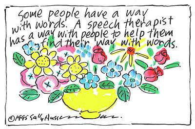Painting - Speech Therapist by Sally Huss