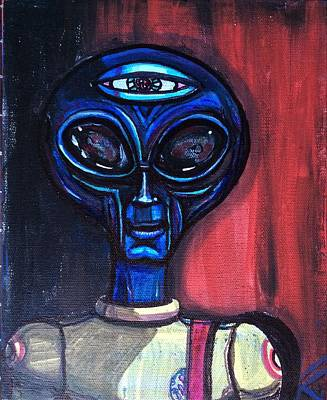 Painting - Speechless Alien by Similar Alien