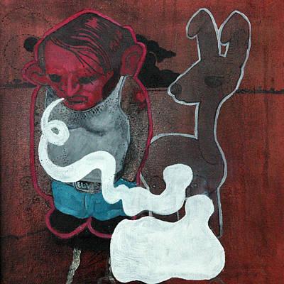 Imaginary Friend Painting - Speechless  by Konrad Geel