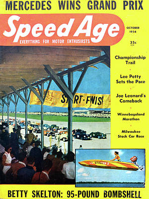 Photograph - Speed Age Mag Oct 1954 by David Lee Thompson