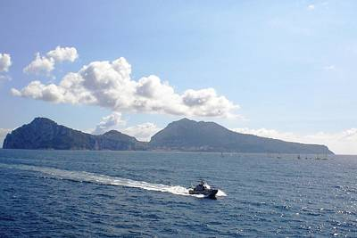 Art Print featuring the photograph Speed At Sea Capri by Piety Dsilva