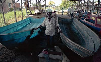 Photograph - Speed Boat Making by Muyiwa OSIFUYE