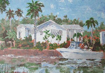 Painting - Speed Boat by Tony Caviston