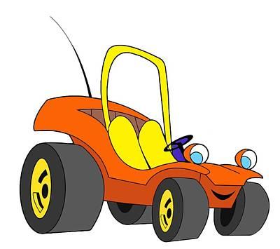 Gustavo Oliveira Drawing - Speed Buggy by Gustavo Oliveira