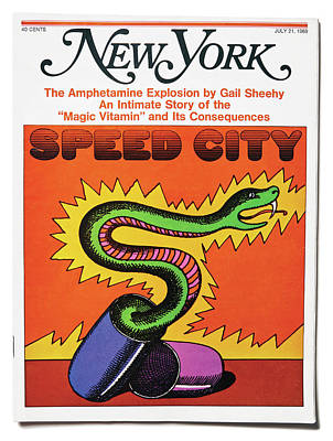 Mixed Media - Speed City by Milton Glaser