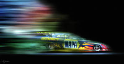 Napa Digital Art - Speed Coloring by Peter Chilelli