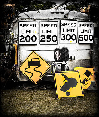 Photograph - Speed Limit Ahead by Debra Forand