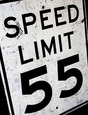 Speed Limit Art Print by Audrey Venute