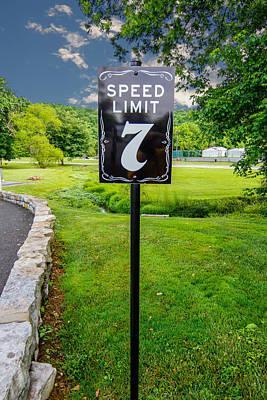 Photograph - Speed Limit by Robert Hebert