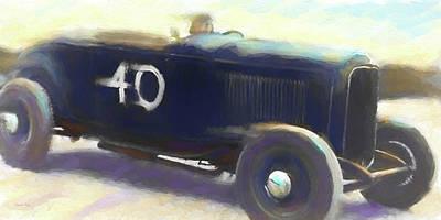 Ford Digital Art - Speed Run by David King