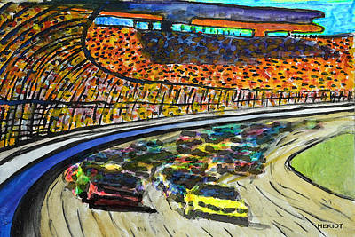 Nascar Painting - Speed by Steve Heriot