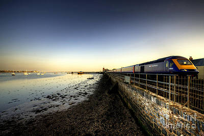 Train Photograph - Speeding Thro Starcross by Rob Hawkins