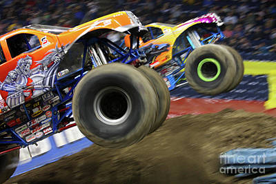Monster Truck Photograph - Speeding Tires by Karol Livote