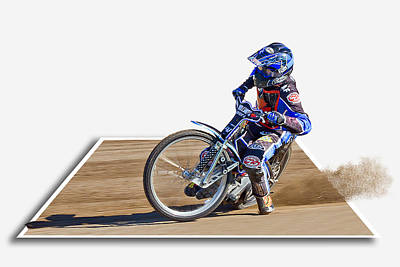 Out Of Bounds Photograph - Speedway Racing by Alice Gosling