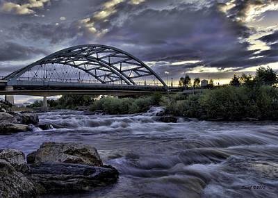 Speer Photograph - Speer Blvd Bridge by Stephen  Johnson