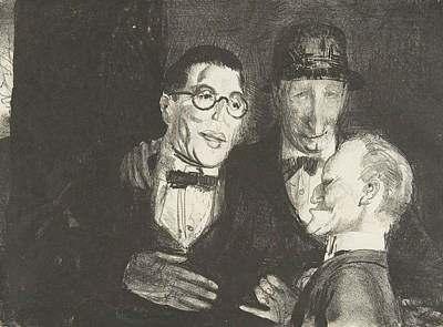 Relief - Speicher, Kroll, And Bellows by George Bellows