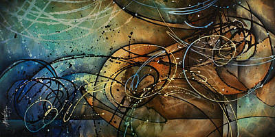Earth Tones Painting - Spell by Michael Lang