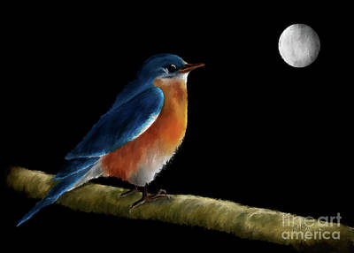 Digital Art - Spellbound By The Light Of The Silvery Moon by Lois Bryan