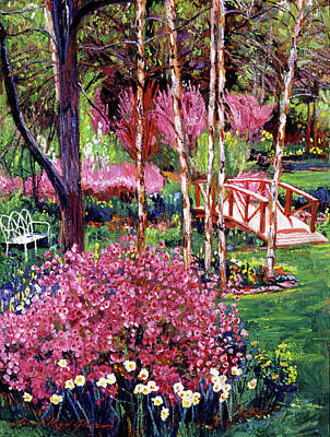 Park Benches Painting - Spellbound Color Impressions by David Lloyd Glover