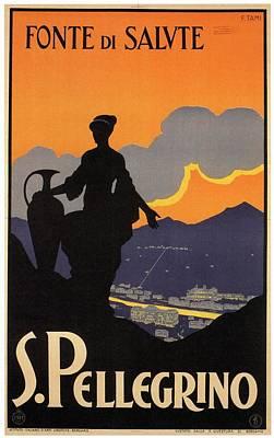S.pellegrino - Fonte Di Salute - Italy - Retro Travel Poster - Vintage Poster Art Print