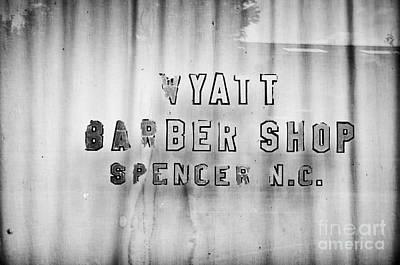 Spencer Barber Shop Art Print