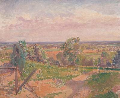 Spencer Frederick Gore - An Extensive Landscape In Yorkshire Art Print by Celestial Images