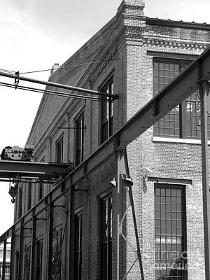 Spencer Shops Crane  B W Art Print