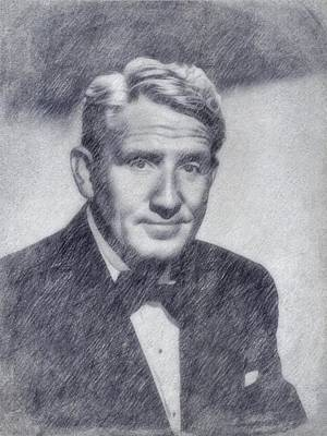 Icon Drawing - Spencer Tracy by John Springfield