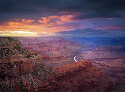 Photograph - Spendid Light // Grand Canyon National Park  by Nicholas Parker