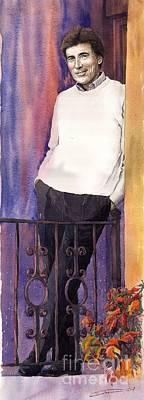 Violet Painting - Spenser 01 by Yuriy  Shevchuk