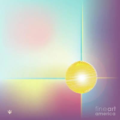 Wall Art - Digital Art - Sphera - Abstract Art Print - Fantasy - Digital Art - Sea Flower - Fine Art Print by Ron Labryzz